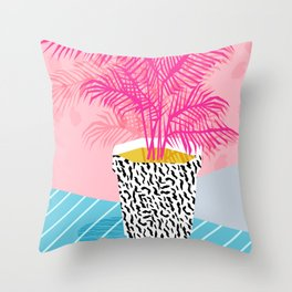No Can Do - hipster abstract neon 1980s style memphis print palm springs socal los angeles desert Throw Pillow