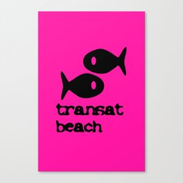 Transat beach Canvas Print