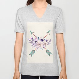 Floral Arrows Unisex V-Neck