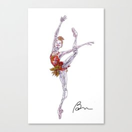 Melissa Hamilton in Rubies Canvas Print