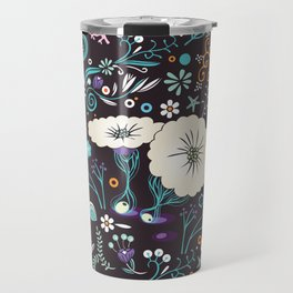 Subsea floral pattern Travel Mug