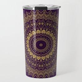 Harmony Circle of Gold on Purple Travel Mug