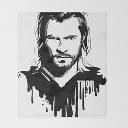 Fandom In Ink » Thor Throw Blanket