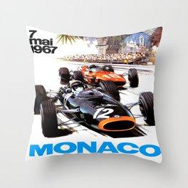Monaco 1967 Grand Prix Throw Pillow