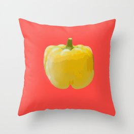 Yellow bell pepper Throw Pillow