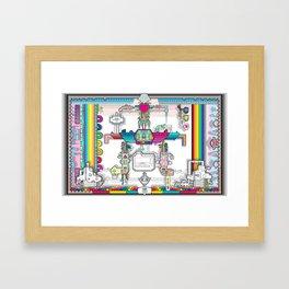 perspective_rainbow_wallpaper_large Framed Art Print