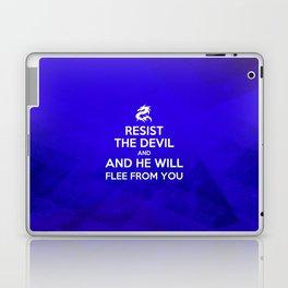 Resist the Devil - Bible Lock Screens Laptop & iPad Skin