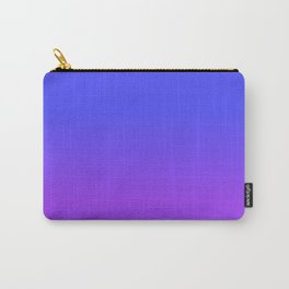 Neon Purple and Bright Neon Blue Ombré Shade Color Fade Carry-All Pouch