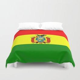 Flag of Bolivia Duvet Cover