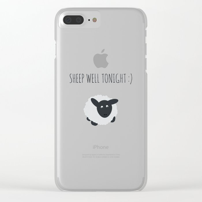 Sheep Well Tonight Clear iPhone Case