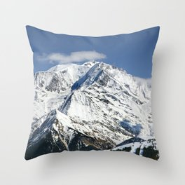 Mt. Blanc with clouds Throw Pillow