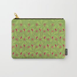 Flowerline – green Carry-All Pouch