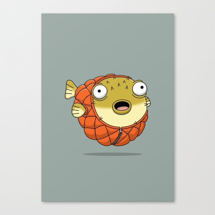 Puffer fish Canvas Print