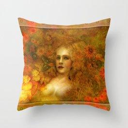 """""""Ofelita de Oro"""" (From """"Death, Life, Hope"""") Throw Pillow"""