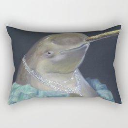 MADAME NARWHAL, by Frank-Joseph Rectangular Pillow