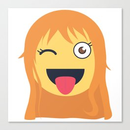Nami Emoji Design Canvas Print