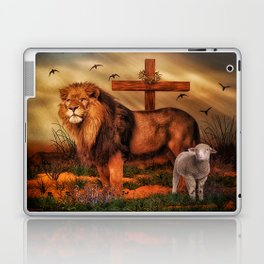 The Lion And The Lamb Laptop & iPad Skin
