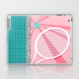 Boo Ya - tennis full court racquet palm springs resort sports vacation athlete pop art 1980s neon  Laptop & iPad Skin