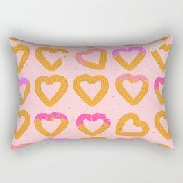 Churro Hearts Rectangular Pillow