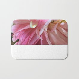 Pale pink peonies - botanical series up close and personal Bath Mat