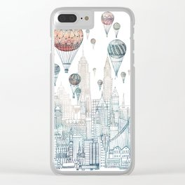 Voyages Over New York ~Refresh Clear iPhone Case