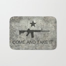 Come and Take it Flag with AR-15 Bath Mat