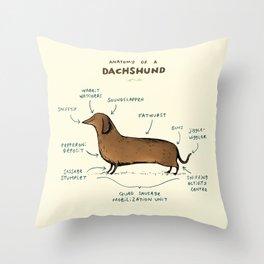 Anatomy of a Dachshund Throw Pillow