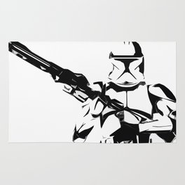 Clonetrooper Pop Art Illustration Sci-fi Film Movie Pop art Home Decor Geeky Poster Nerdy Rug