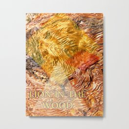 LION IN THE WOOD Metal Print