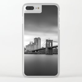 Monochrome panorama of Manhattan Clear iPhone Case