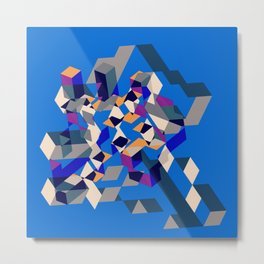 Blue collage Metal Print