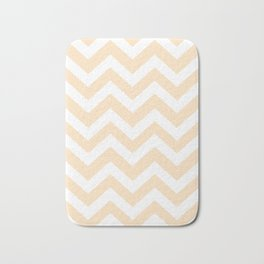 Bisque - pink  color - Zigzag Chevron Pattern Bath Mat