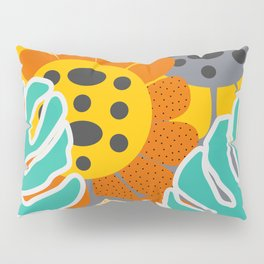 Sunflowers and leaves Pillow Sham