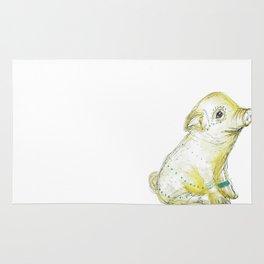 Pig Illustration Rug