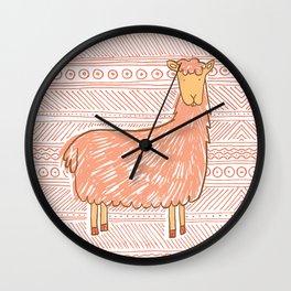 Llamas are Friends in Peru Wall Clock
