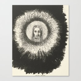Odilon Redon - And in the disc of the sun the face of Christ shone Canvas Print