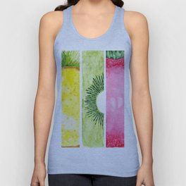 Summer Fruits Watercolor Abstraction Unisex Tank Top