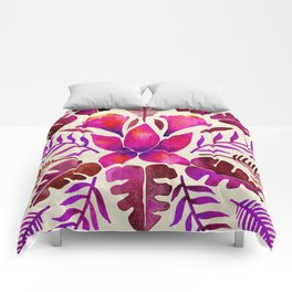 Tropical Symmetry – Magenta Comforters