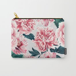 Pattern pink vintage peonies Carry-All Pouch