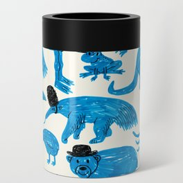 Blue Animals Black Hats Can Cooler