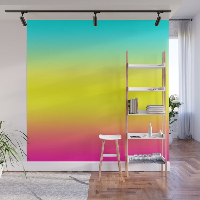 Ombre Magical Rainbow Unicorn Colors Wall Mural by peladesign | Society6