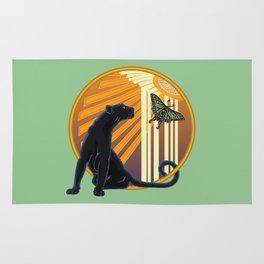 Jaguar Plain Art Deco Rug