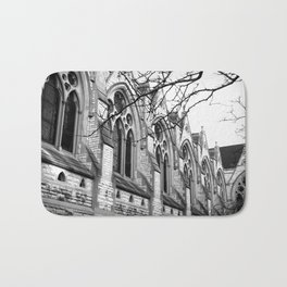 B&W Church Photography Bath Mat