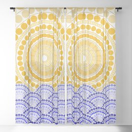 LIGHT OF DAWN (abstract tropical) Sheer Curtain