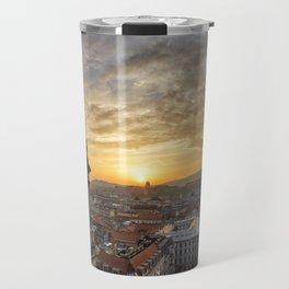 Golden sunset over Budapest Travel Mug