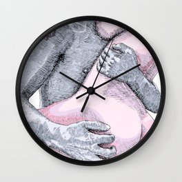 Rough Lover Wall Clock