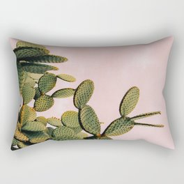 Cactus on Pink Sky Rectangular Pillow
