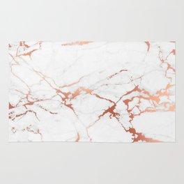 White rose-gold marble Rug