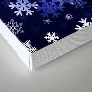 Dark Blue Snowflakes Canvas Print