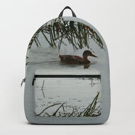 Young Duck swimming in the river Backpack